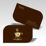 Business card with special corner cut