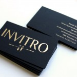 Special black paper with gold stamping business card