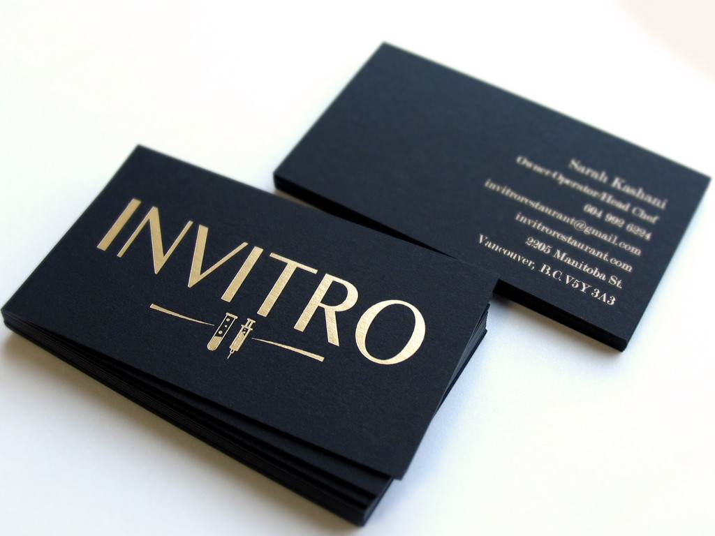 Business cards kuwait copy plus special black paper with gold stamping business card reheart Images